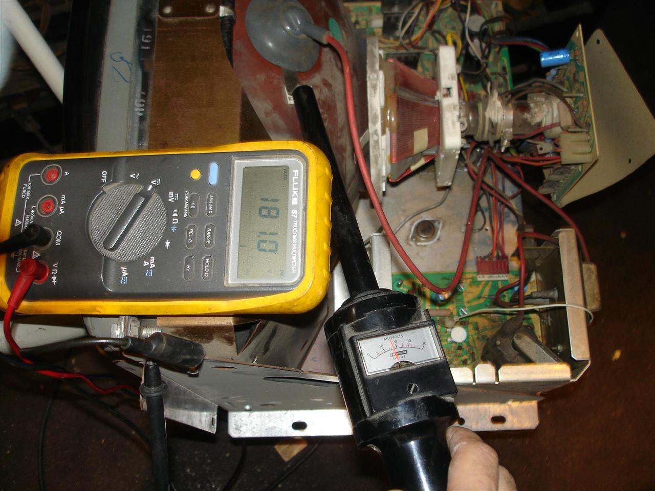 High Voltage Arcade : High voltage adjustment ok k hv probe required